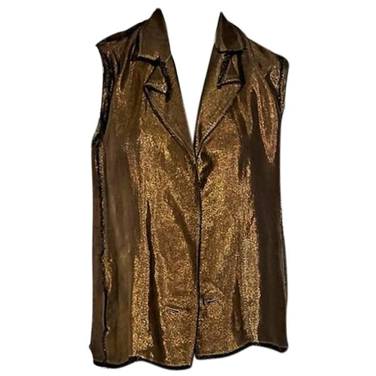 Lanvin Metallic Bronze Vest