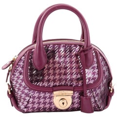 Salvatore Ferragamo Fiamma Convertible Satchel Sequins Mini