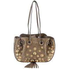 Chloe Inez Bucket Bag Studded Suede Small