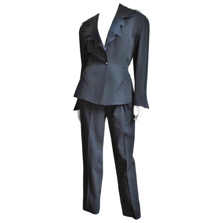 1980s Thierry Mugler Jagged Collar Tuxedo
