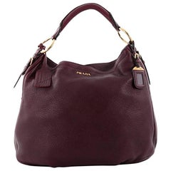 Prada Zip Around Hobo Cervo Antik Leather Large