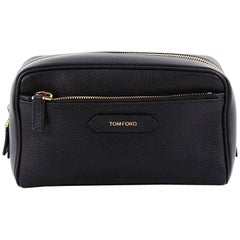 Tom Ford Front Zip Dopp Kit Toiletry Bag Leather Medium