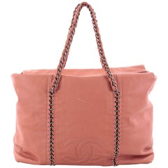 Chanel Luxe Ligne Calfskin Large Zip Top Tote