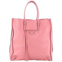 Balenciaga Papier Papier Ledger Zip Around Handbag Leather Medium