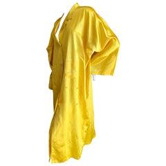 Yohji Yamamoto 1980's Neon Yellow Oversize Coat