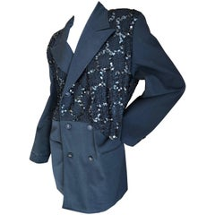 Comme des Garcons 1990's Sequin Black Evening Jacket