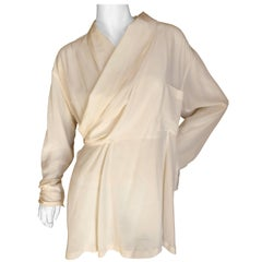 Yohji Yamamoto Pour la Nuit 1990's Silk Wrap Blouse / Mini Dress