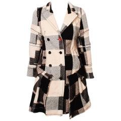 MARITHE FRANCOIS GIRBAUD Checked Coat