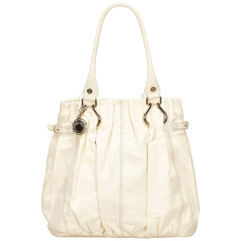 Celine White Leather Tote Bag For Sale at 1stdibs 8c30137496ce2
