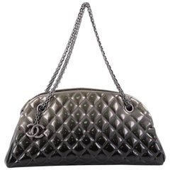 Chanel Just Mademoiselle Degrade Quilted Patent Medium Handbag