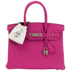 Hermès Birkin 30 Togo Rose Pourpre PHW