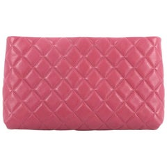 Chanel Square Timeless Clutch Quilted Lambskin