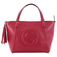 Gucci Soho Convertible Top Handle Bag Leather Medium