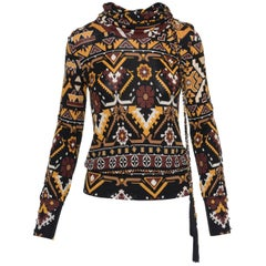 GUCCI Boho Printed Blouse Shirt