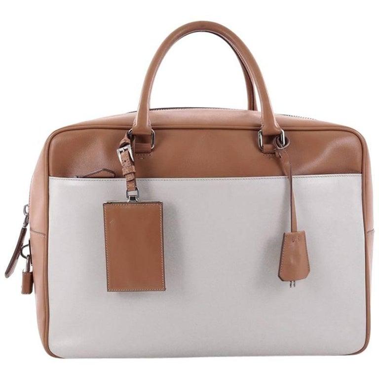 Prada Bauletto Handbag Soft Calfskin