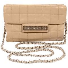 Chanel Beige Lambskin Double Sided Crossbody Bag