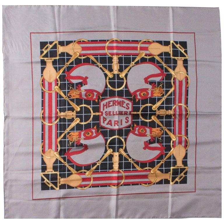 Hermes Vintage Silk Scarf For Sale