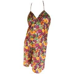 Christian Dior by John Galliano Colorful Cotton Mini Dress