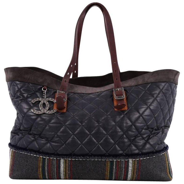 827ac7476065 Chanel Paris-Edinburgh Tote Quilted Mixed Leather with Flannel For Sale
