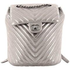Chanel Urban Spirit Backpack Iridescent Chevron Calfskin Small