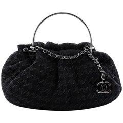 Chanel Knitting Satchel Boucle Tweed Medium