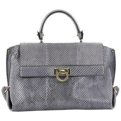 Salvatore Ferragamo Sofia Satchel Python Medium