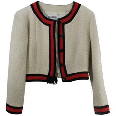 Chanel Short Tweed Jacket from Fall 2001, Size Fr 40