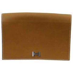 Hermes Gold Natural Leather Beltbag