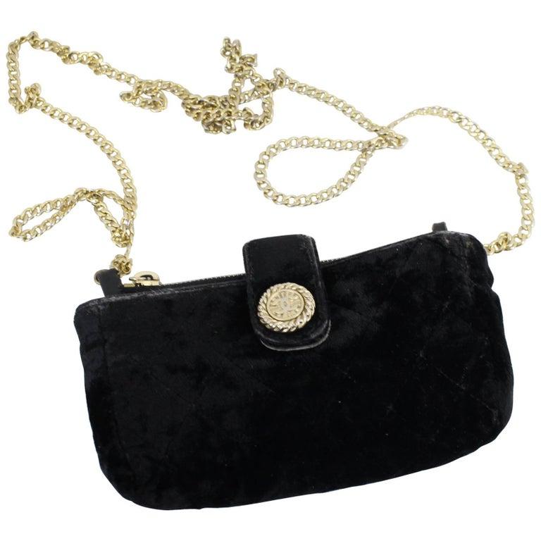 Chanel Vintage Micro Velvet Bag For Sale