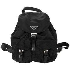 Prada Black Tessuto Nylon Backpack Bag