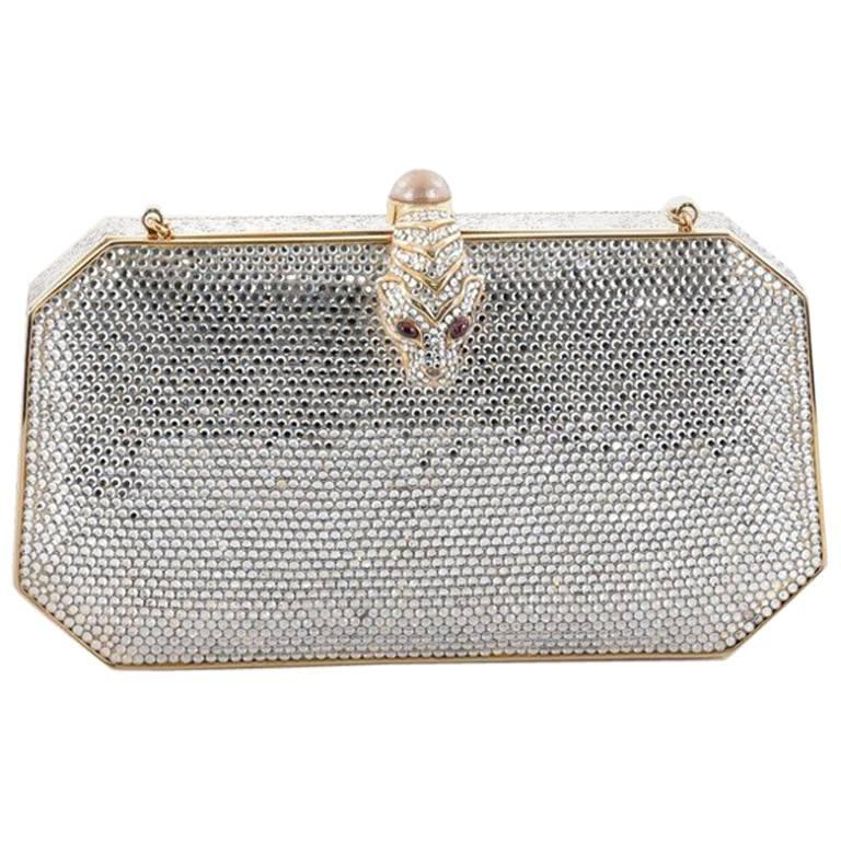 1stdibs Handmade Python Bag/ Clutch With Clustered Frame Of Semi Precious Stones vAAAErNiW