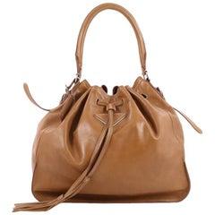 Prada Drawstring Bucket Bag Leather Large