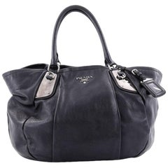 Prada Buckle Tote Glace Calf Large