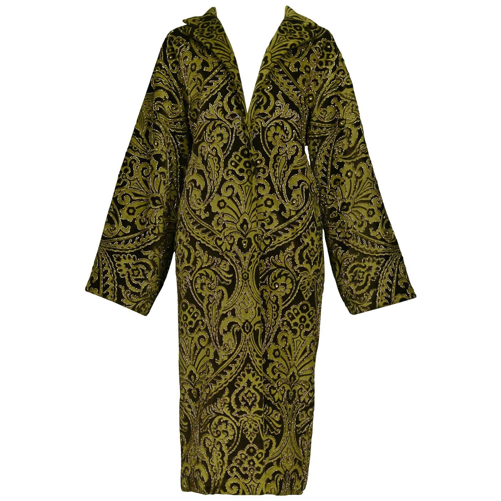 Dolce & Gabbana Important Velvet Beaded Coat