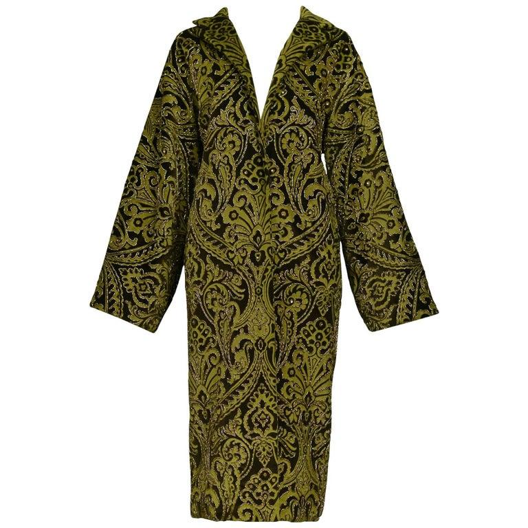 Dolce & Gabbana Important Velvet Beaded Coat  For Sale
