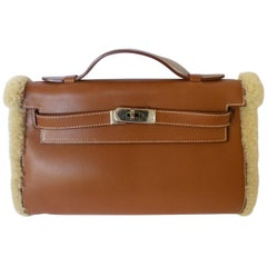 Hermes Teddy Plush Kelly Pochette Muff