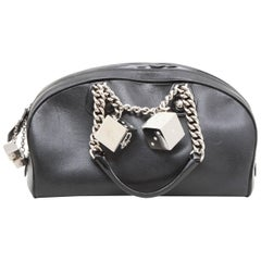 Christian Dior Bag in Black Grained Leather