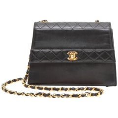 CHANEL Vintage Bag in Black Smooth and Quilted Leather