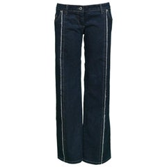 "Legendary Alexander McQueen Iconic ""Bumster"" Lowest Rise Runway Jeans 1990's"