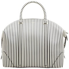 GIVENCHY Weekend Bag in Black and White Striped Leather
