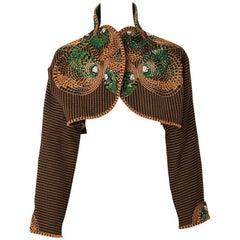 Geoffrey Beene Lesage Embroidered Bolero
