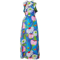Givenchy Dotted Swiss Floral Patterned Maxi Dress