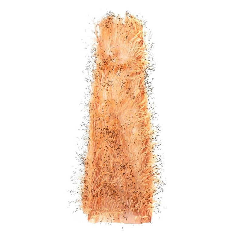 Balenciaga Feathered Gown C. 1967 For Sale
