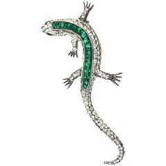 Kenneth Jay Lane Lizard Brooch / Salamander