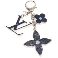 Louis Vuitton Blue Fleur D'Epi Bag Charm