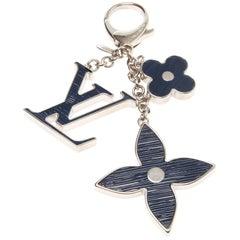 Louis Vuitton Blue Fleur D'Epi Bag Charm