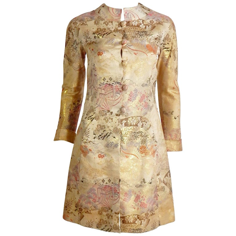 Henri Bendel Asian Silk Coat, 1960s