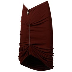 Unworn with Tags 1990s Jean Paul Gaultier Femme Vintage Brown Avant Garde Skirt