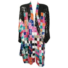 1980s Judith Ann Rainbow Sequin Jacket