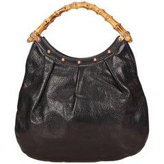 Gucci Black Bamboo Handbag